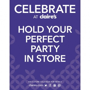 Hold Your Perfect Party At Claire's, Stevenage